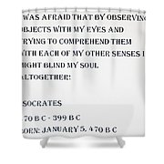 Socrates Quote Shower Curtain
