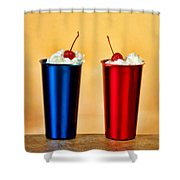 Soda Fountain Joy Shower Curtain