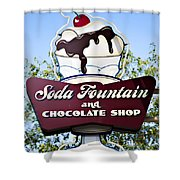 Soda Fountain Shower Curtain