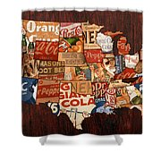 Soda Pop America Shower Curtain