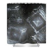 Sodium Hydroxide Crystals Shower Curtain