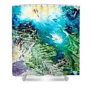 Sodium Thiosulphate Microcrystals Color Abstract Shower Curtain