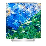 Sodium Thiosulphate Microcrystals Colorful Art Shower Curtain