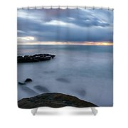 Soft And Blue Shower Curtain