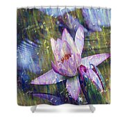 Water Lily Photography Tender Moments  Shower Curtain