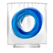 Soft Blue Enso - Abstract Art By Sharon Cummings Shower Curtain