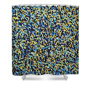 Soft Blue With Yellow Shower Curtain