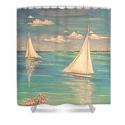 Soft Breeze Shower Curtain by The Beach  Dreamer
