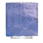 Soft Clouds Blue Sky Shower Curtain