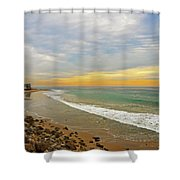 Soft Colors On The Coast Shower Curtain by Lynn Bauer