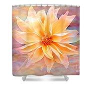 Soft Delightful Dahlia Shower Curtain