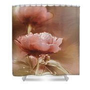 Soft Flower Digital Painting Shower Curtain