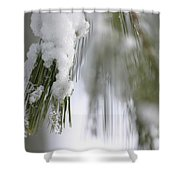 Soft Ice Shower Curtain