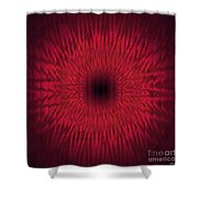 Soft Kaleidospiral Red Shower Curtain