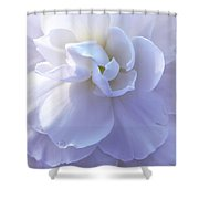 Soft Lavender Begonia Flower Shower Curtain