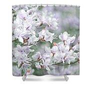 Soft Lavender Dancing Azalea Flowers Shower Curtain