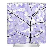 Soft Lavender Leaves Melody Shower Curtain
