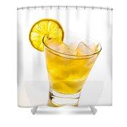 Soft Lemon Cocktail Shower Curtain
