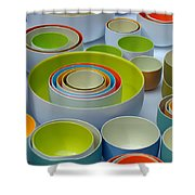 Soft Light And Circles Shower Curtain