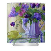 Soft Light Shower Curtain by Bonnie Mason