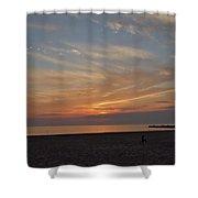 Soft Orange Sunset Shower Curtain