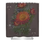 Soft Pastel Abstract Strawflowers Art Prints Shower Curtain