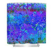 Soft Pastel Floral Abstract Shower Curtain