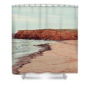 Soft Rain On The Beach Shower Curtain by Edward Fielding