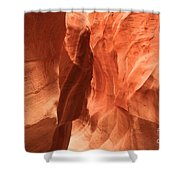 Soft Sculpted Sandstone Walls Shower Curtain by Adam Jewell