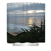 Soft Silvery Pacific Sunset Shower Curtain
