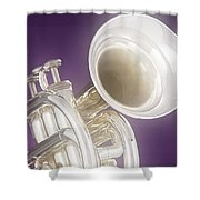 Soft Trumpet On Purple Shower Curtain