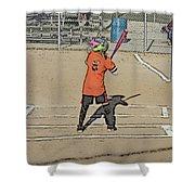 Softball Star Shower Curtain