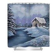 Softest Snow Shower Curtain