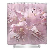 Softness Of Pink Pastel Azalea Flowers Shower Curtain