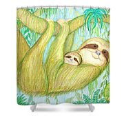 Soggy Mossy Sloth Shower Curtain