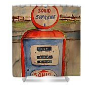 Sohio Gasoline Pump Shower Curtain
