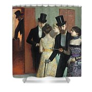 Soiree At The Opera Shower Curtain by Ernest Rouart