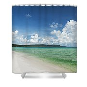 Sok San Area Of Long Beach In Koh Rong Island Cambodia Shower Curtain
