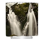 Sol Duc River Cascade Shower Curtain