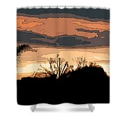 Solana Beach Sunset 2 Shower Curtain