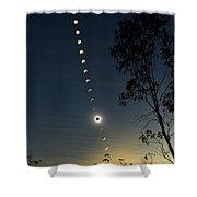 Solar Eclipse Composite, Queensland Shower Curtain by Philip Hart