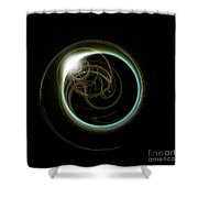 Solar Eclipse With Fractal Shower Curtain