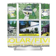 Solar Five Shower Curtain