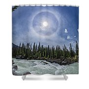 Solar Halo Over Natural Bridge, Yoho V1 Shower Curtain