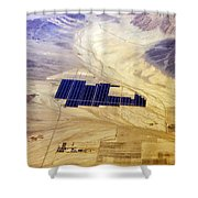 Solar Panels Aerial View Shower Curtain