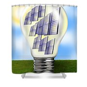 Solar Power Lightbulb Shower Curtain