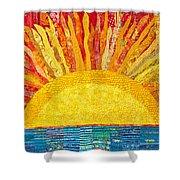Solar Rhythms Shower Curtain by Susan Rienzo