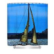 Solar Sail Shower Curtain