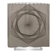 Solar Spiraling Shower Curtain