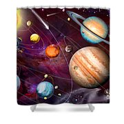 Solar System 2 Shower Curtain